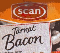Tärnat bacon
